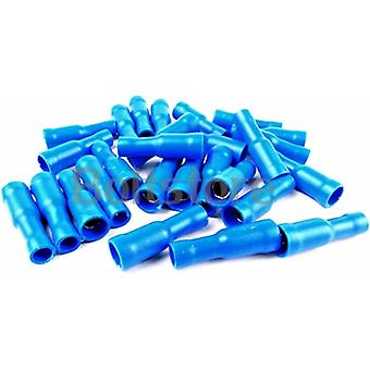 Blue Female Bullet Connectors Crimp Terminal Electrical Wire Fittings