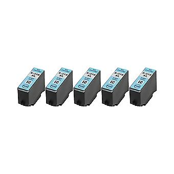 RudyTwos 5x Replacement for Epson 378XLLC Ink Unit LightCyan Compatible with XP-8500, XP-8505, HD XP-15000