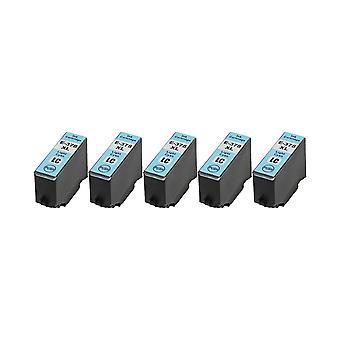 RudyTwos 5 x ersätter Epson 378XLLC bläck enhet LightCyan kompatibel med XP-8500, XP-8505, HD XP-15000