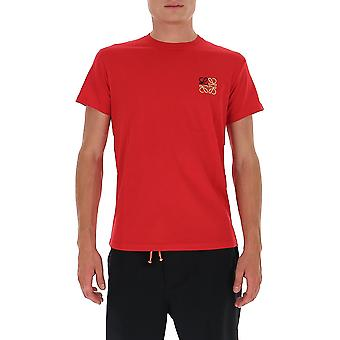 Loewe H526341xai7100 Men's Red Cotton T-shirt