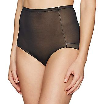 Arabella Women's Smoothing Mesh Shapewear Brief, Black, Large