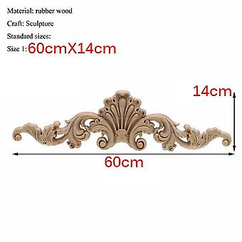 European Style Natural Wood Carving Appliques For Furniture
