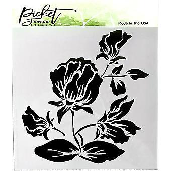 Picket Fence Studios Shading Flower Stencil
