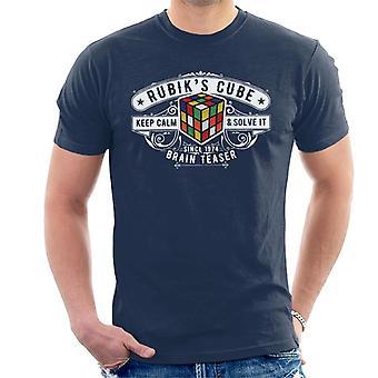 Rubik's Cube badge sinds 1974 mannen T-shirt