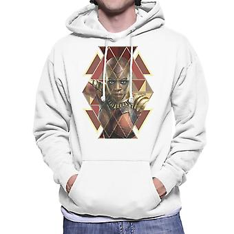 驚嘆ブラックパンサー Okoye Wakandan 戦士メンズ フード付きスウェット シャツ