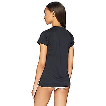 Essentials Women's Camiseta de Natación Quick-Dry UPF50 de manga corta, negro, medio