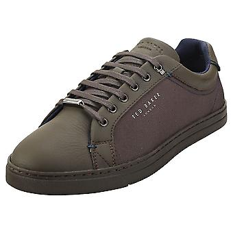 Ted Baker Ashblam Mens Fashion Trainers in Dark Green