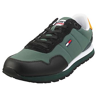 Tommy Jeans Lifestyle Mix Runner Mens Casual Trainers in Dark Pine