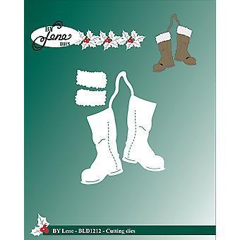 بواسطة لين عيد الميلاد الأحذية قطع يموت