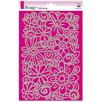 Pronty Crafts Flowers A4 Stencil