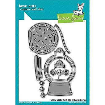 Lawn Fawn Snow Globe Gift Tag morre