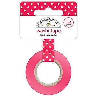Doodlebug Design Ladybug Swiss Dot Washi Tape