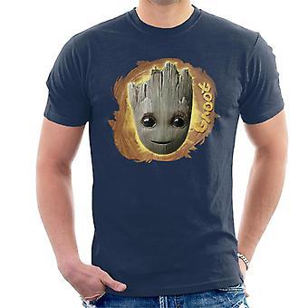 Marvel Guardians Of The Galaxy Vol 2 Groot Wood Design Men's T-Shirt