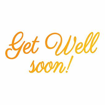 Ultimate Crafts Hotfoil Stamp Get Well Soon (3.1 x 1.4in) (ULT158119)