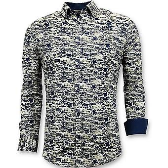 Design Overhemden -  Digitale Print -  Blauw