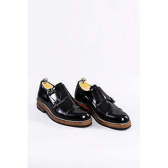 Nahka musta italialainen tyyli kengät | Kävi koulua wessi