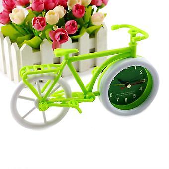 Honana pastoral style trumpet bike shape alarm clock for children kids bicycle clocks home art decor