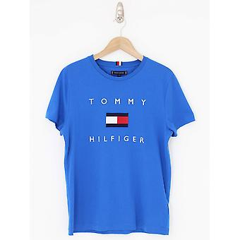 Tommy Hilfiger Tommy Flag Tee - Electric