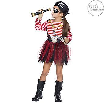 Pirate Girl Kinder Seeräuberin Kostüm Piratin Karneval