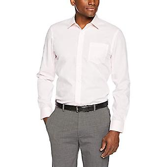 "Essentials Menn's Slim-Fit Rynke-Resistent Langermet Skjorte, Lys Rosa, 14.5"" Hals 32""-33"" Erme"