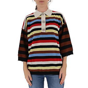 Ganni K1382999 Chemise polo en coton multicolore Ganni K1382999 Femmes