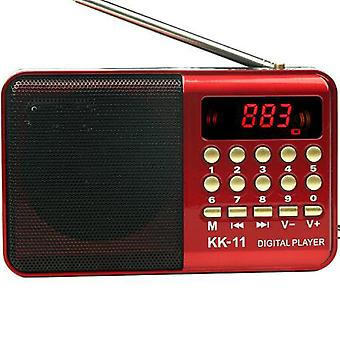 Digital Radio Speaker Mini Fm Radio Usb Tf Mp3 Music Player Teleskopantenne