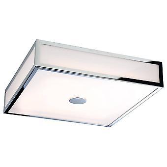 LED Bagno Flush Soffitto Luce Cromo, Policarbonato Diffusore IP44