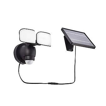 Saxby Sentinel Solar - Geïntegreerde LED Solar Outdoor Wall Light Matt Black, Frosted IP44