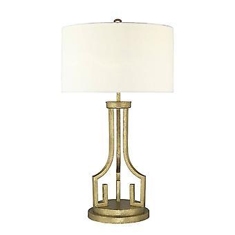 Elstead Lemuria - 1 lysbordlampe Guld, E27