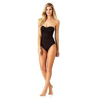 Anne Cole femei ' s Twist fata Shirred o bucata costum de baie,, negru, dimensiune 12,0