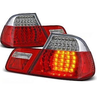 TYLNE ŚWIATŁA BMW E46 04 99-03 03 COUPE CZERWONY JASNY LED