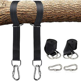 Swing Rope Tree Hanging Straps Kit Easy Installation With Safer Lock Snap Carabiner