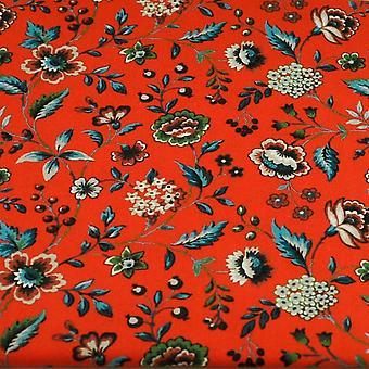 Ties Planet Liberty Red Floral mintás férfi&s Pamut Designer Pocket Square zsebkendő