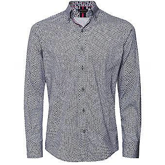 Guide London Slim Fit Geometric Floral Shirt