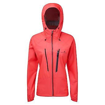 Ronhill Tech Fortify Womens Breathable & Waterprofamof Running Jacket Hot Pink/charcoal