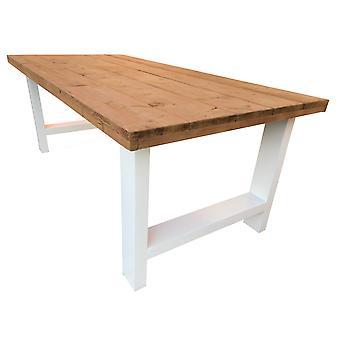 Wood4you - Kloostertafel roastedwood 220Lx78Hx90D cm