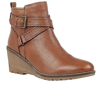 Lotus Petra Womens Wedge Ankle Boots
