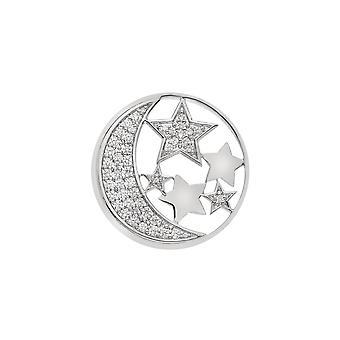 Emozioni Sterling Silver Plate Notturno 33mm Coin EC517