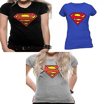 Superman Womens/Ladies Logo Design Fitted T-Shirt