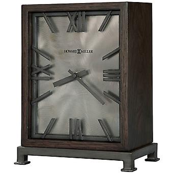Howard Miller Reid Mantel Clock - Dark Brown/Grey