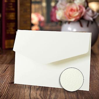 10 convites de casamento a6 em branco texturizados