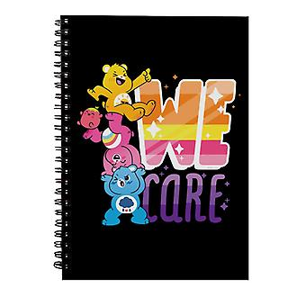 Care Bears Unlock The Magic We Care White Border Spiral Notebook