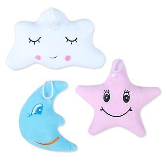 Stars Moon Cloud Plush- Emoticon Squeeze Pillow Cushion Lady Cute Kawaii Cloth