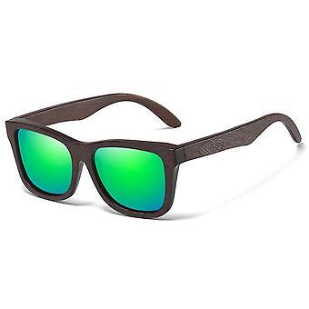الطبيعية الخيزران نظارات شمسية خشبية، اليدوية، العدسات طلاء مرآة الاستقطاب،