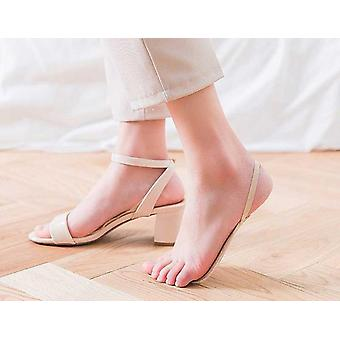 Chaussettes Sling Half Foot Pad, Invisible Summer High Heels, Anti-slip, Sponge Care
