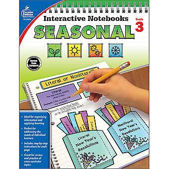 Cuadernos interactivos: Libro de recursos de temporada, Grado 3