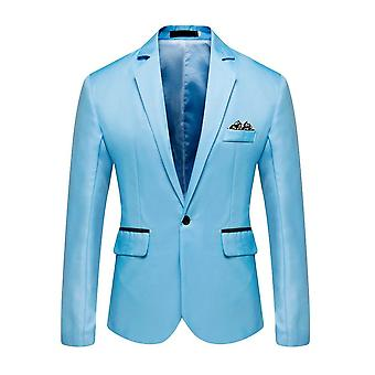 Men's Stylish Casual Solid Blazer Business Wedding Party Coat Suit