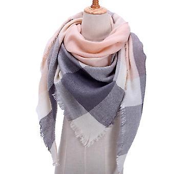 Designer Knitted Scarf Plaid Warm Cashmere Scarves Shawls Luxury Brand Neck