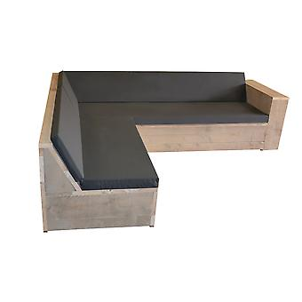 Wood4you Loungeset 1 Gerüstholz 210x200 cm - L-Form - inkl. Kissen
