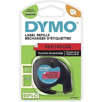 DYMO LT Merkintäteippi Teipin väri: Marsinpunainen Fontin väri: Musta 12 mm 4 m